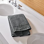 Zero Twist Quick Dry Dark Grey Hand Towel