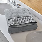 Zero Twist Quick Dry Grey Bath Sheet