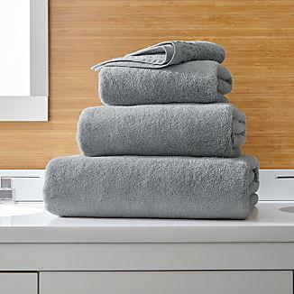 Zero Twist Quick Dry Grey Bath Towels