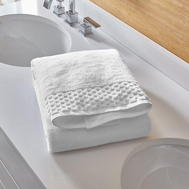 Zero Twist Quick Dry White Bath Towel - Image 1 of 6