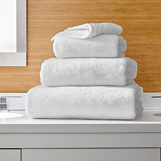 Zero Twist Quick Dry White Bath Towels