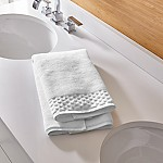 Zero Twist Quick Dry White Hand Towel