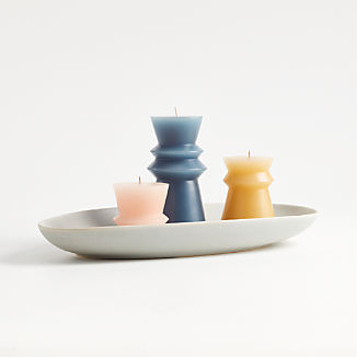 Ziggy Pillar Candles and Tray