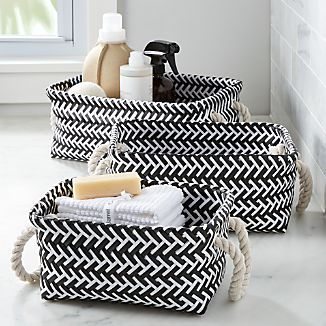 Black and White Zig Zag Totes Set of Three