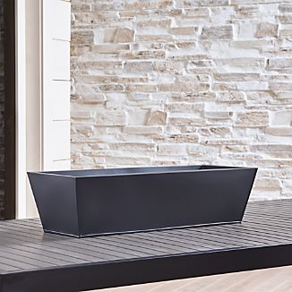 Zinc Rectangular Rail Planter