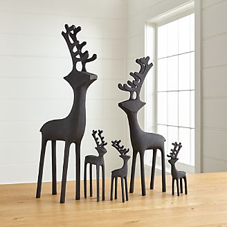 zinc reindeer - Crate And Barrel Christmas Decorations