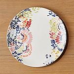 Zinnia Blooms Flowered Platter