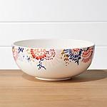 Zinnia Blooms Flowered Serving Bowl
