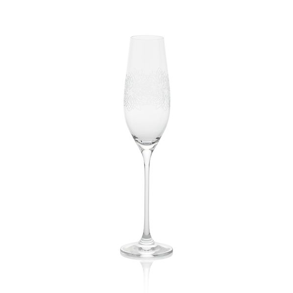 Zinnia Engraved Champagne Glass