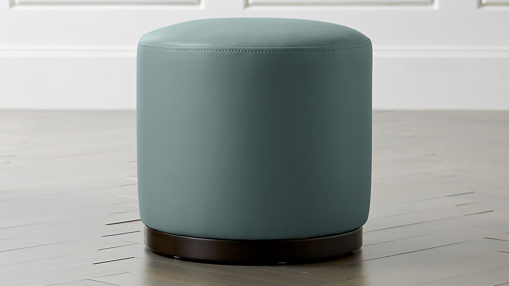 "Zoey Swivel Ottoman 16"" Ocean - Image 1 of 3"