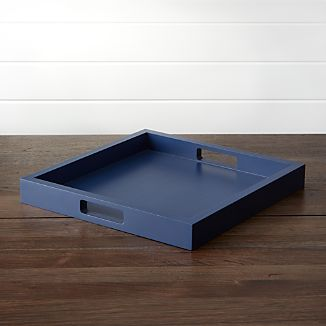 Zuma Square Limoges Blue Tray