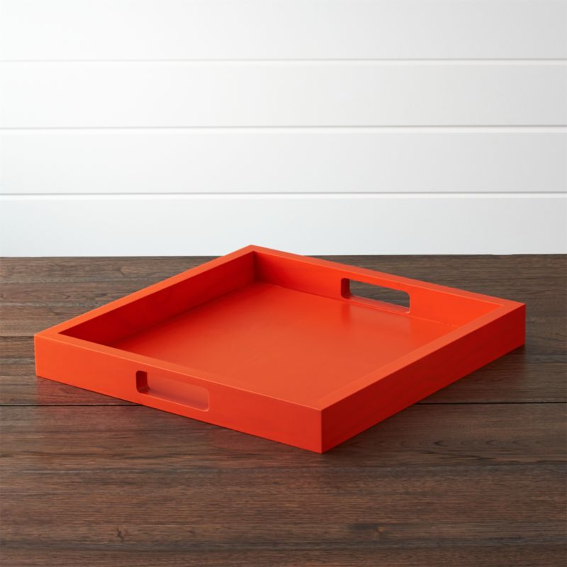 Zuma Orange Tray Reviews Crate And Barrel