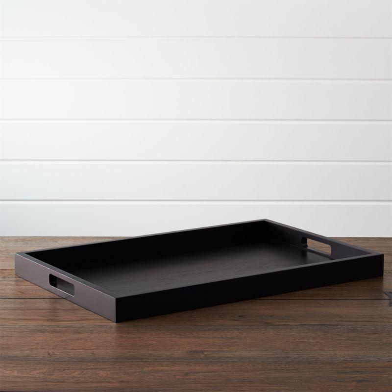 zuma black rectangular tray - Decorative Trays