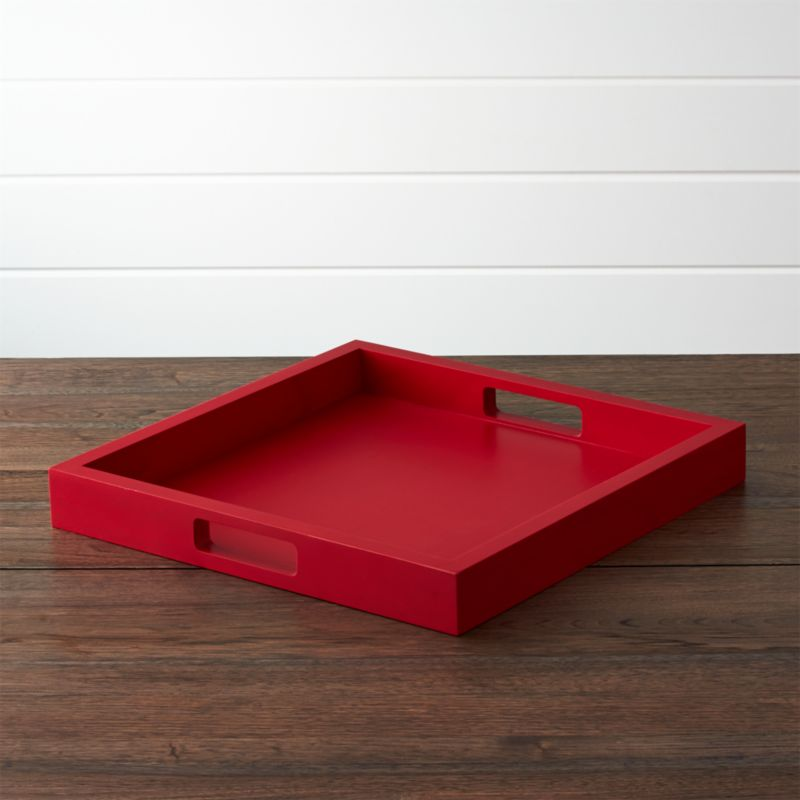 Zuma Red Tray by Crate&Barrel