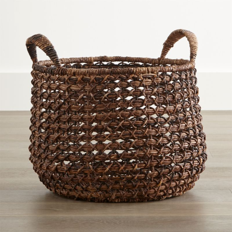 Zuzu Round Handwoven Basket Reviews Crate And Barrel