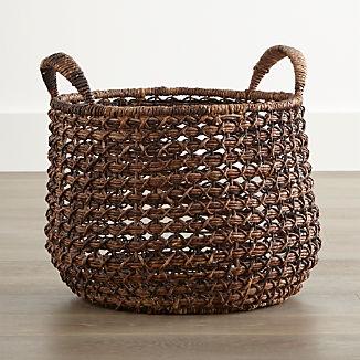 Zuzu Round Handwoven Basket