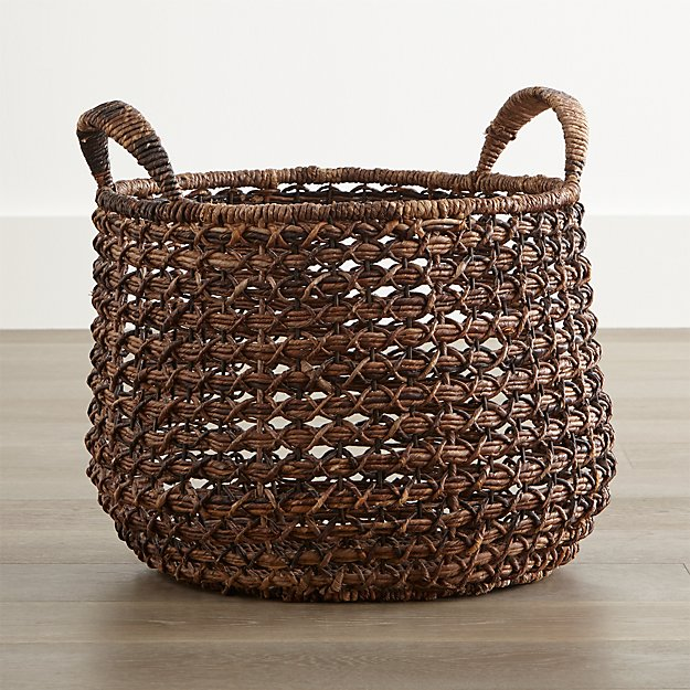 Zuzu Round Handwoven Basket Reviews Crate And Barrel