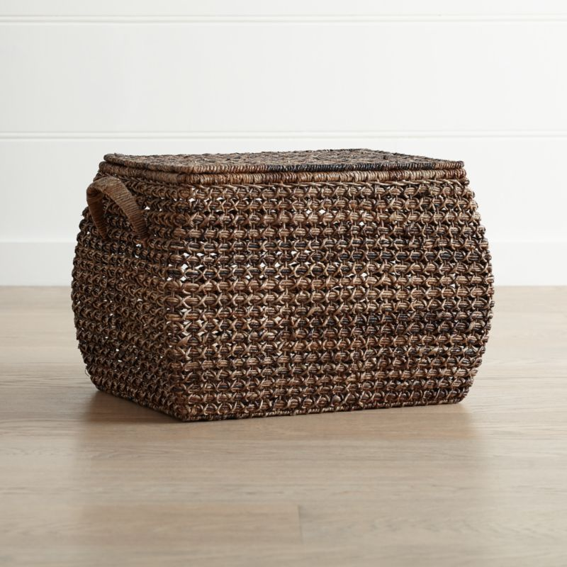 Exceptionnel Zuzu Large Rectangular Handwoven Basket With Lid + Reviews | Crate And  Barrel