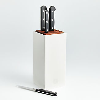 ZWILLING ® J.A. Henckels Gourmet 5-Piece White Canister Knife Set