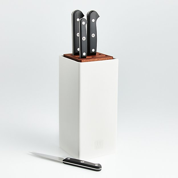 ZWILLING ® J.A. Henckels Gourmet 5-Piece White Canister Knife Set - Image 1 of 5