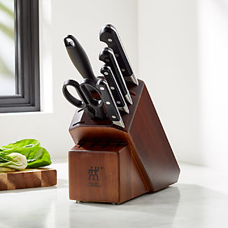 Zwilling J.A. Henckels Pro 7-Piece Acacia Knife Block Set