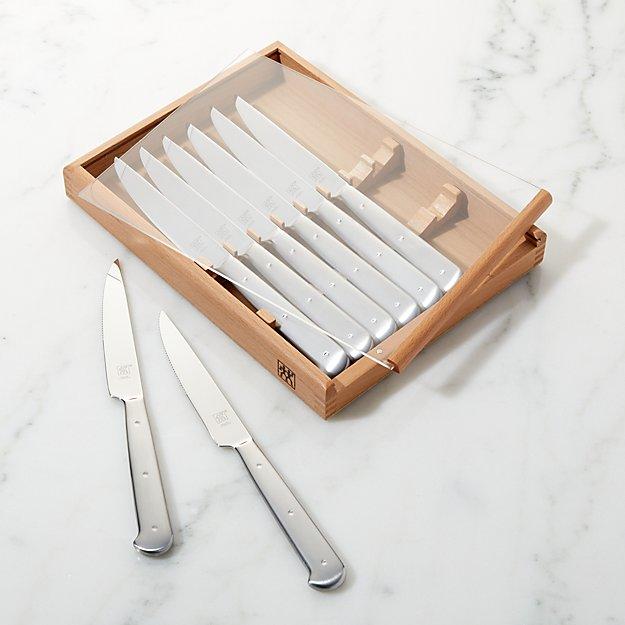 Zwilling JA Henckels Stainless Steel Porterhouse Steak Knife Set - Image 1 of 3