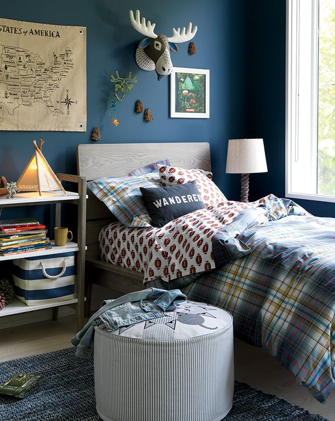Grey And Navy Boys Bedroom Crate And Barrel
