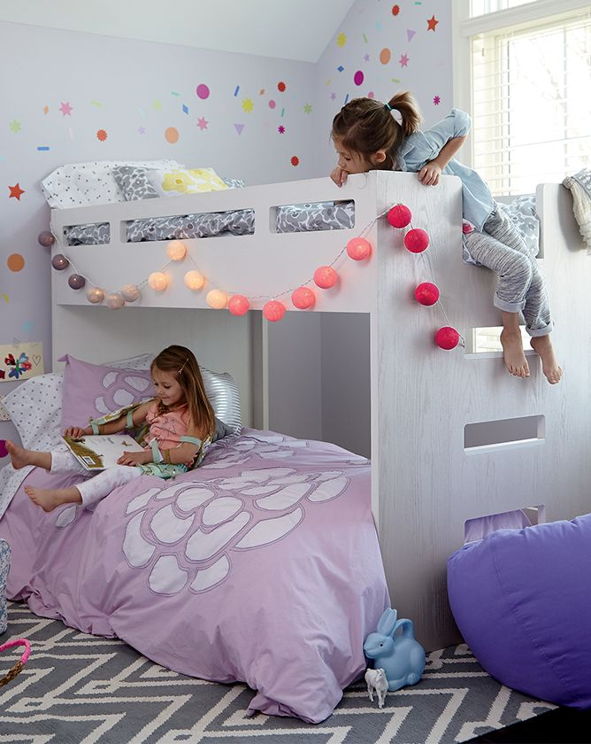 Girls Purple Bedroom Inspiration Crate And Barrel