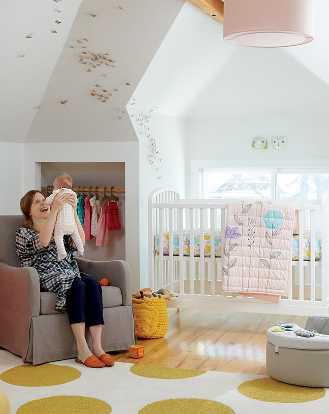 Rooms We Love: Girls Pink Yellow Nursery