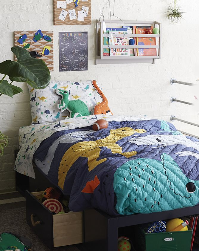 Boys Dinosaur Themed Bedroom Crate And Barrel