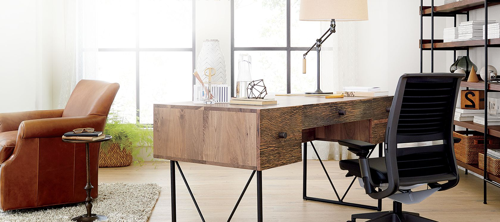 Home office furniture crate and barrel for Best home office furniture