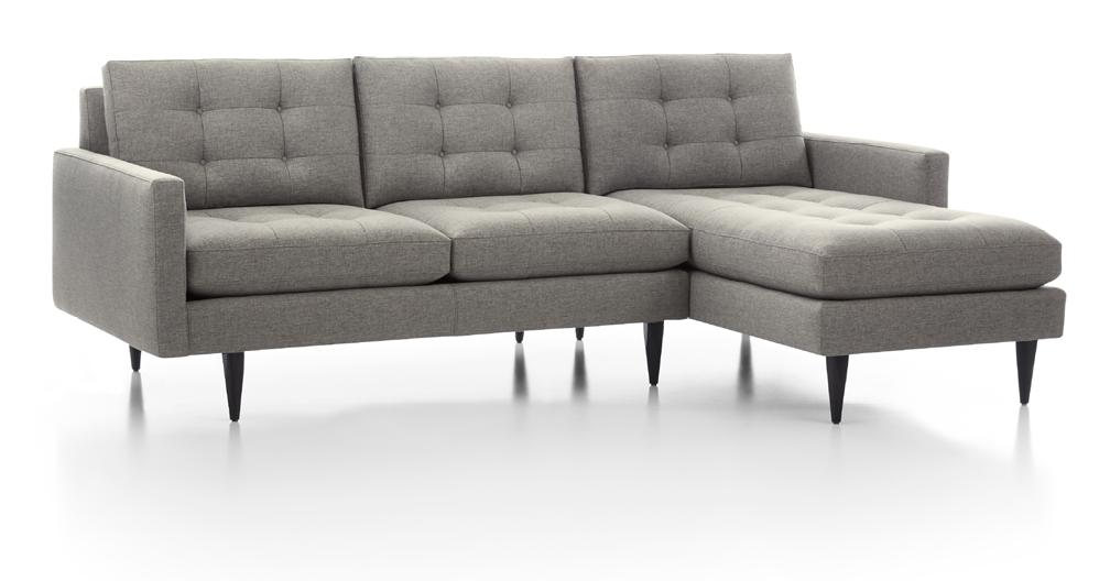Petrie Grey Tufted Sectional Crate And Barrel Canada