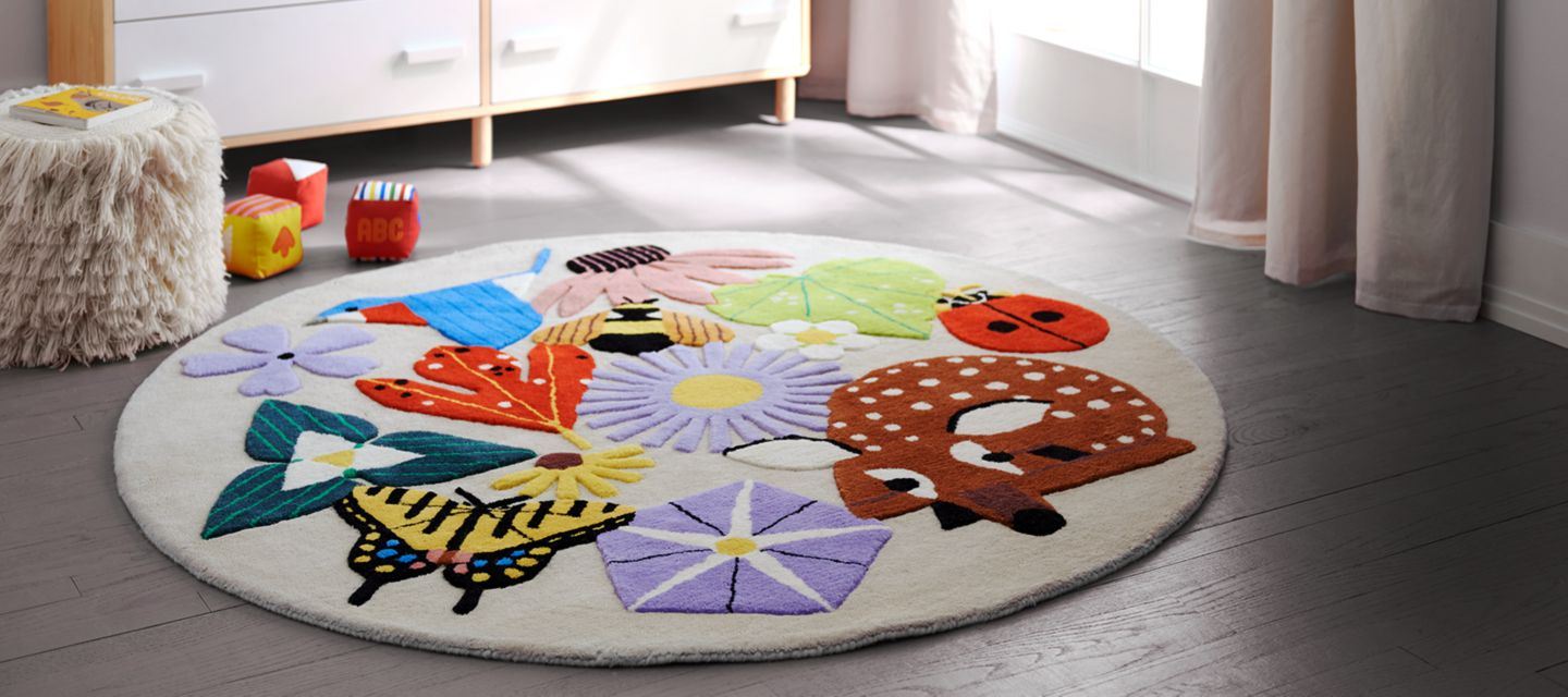 rug and gallery barrel triangle kids crate playroom rugs
