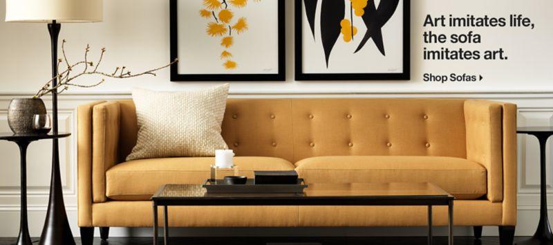Art Imitates Life, The Sofa Imitates Art. Shop Sofas