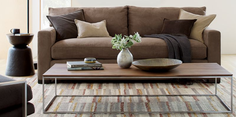 Rustic Modern Living Room Axis Crate and Barrel