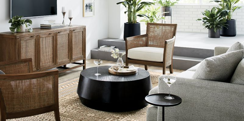 Casual Relaxing Living Room & Casual Relaxing Living Room: Blake | Crate and Barrel