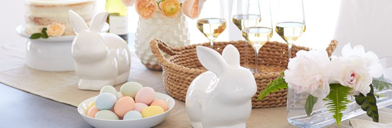 Easter Decor Part - 15: Easter Decor. Ceramic Bunnies