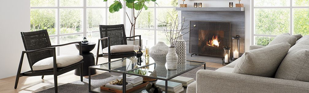Modern Eclectic Living Room: Lounge | Crate and Barrel