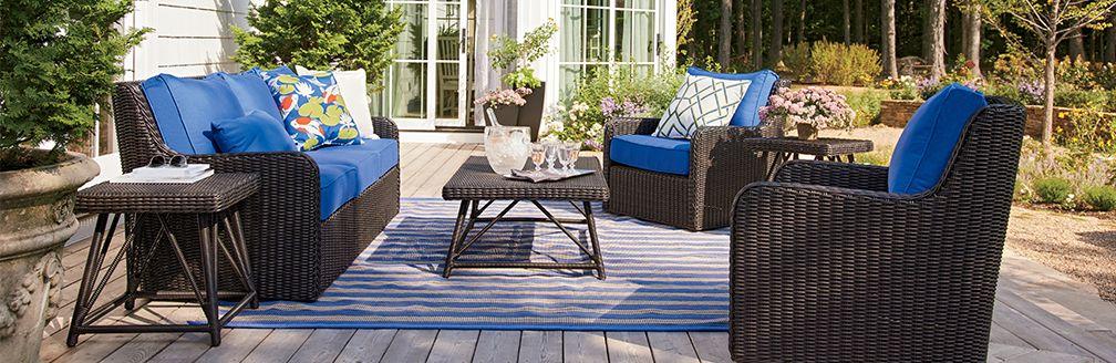 Elegant Patio Furniture Calistoga Outdoor Living Room