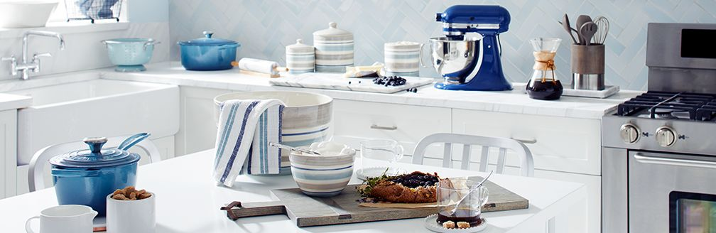 Blue And White Kitchen blue & white kitchen style | crate and barrel