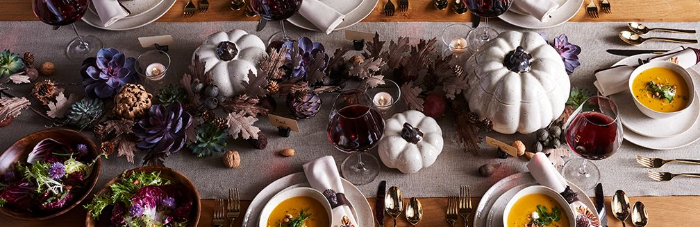 Rustic Thanksgiving Table Setting | Crate and Barrel