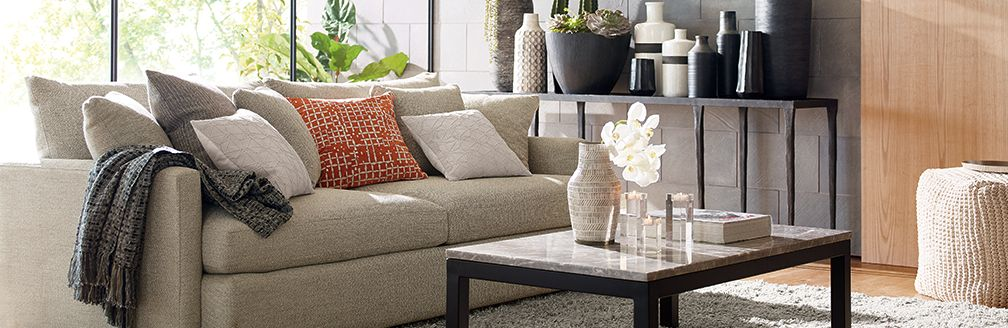 Contemporary Family Room: Lounge | Crate and Barrel