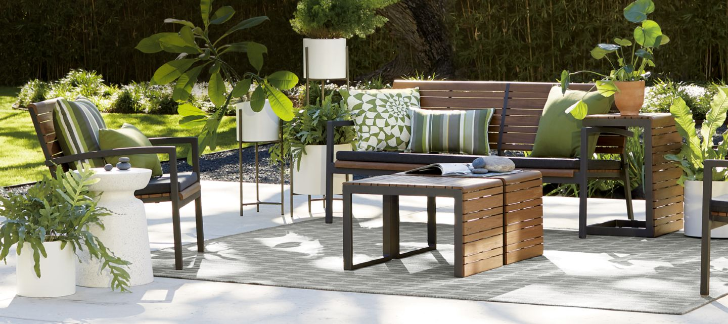 sale on outdoor furniture for patios & decks | crate and barrel