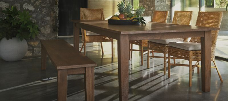 All Wood Dining Room Table Crate And Barrel