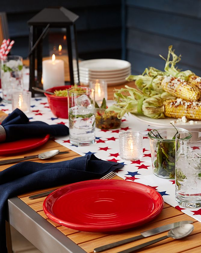 Image of Memorial day themed table
