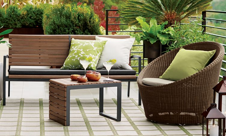 Outdoor Furniture by Material | Crate and Barrel