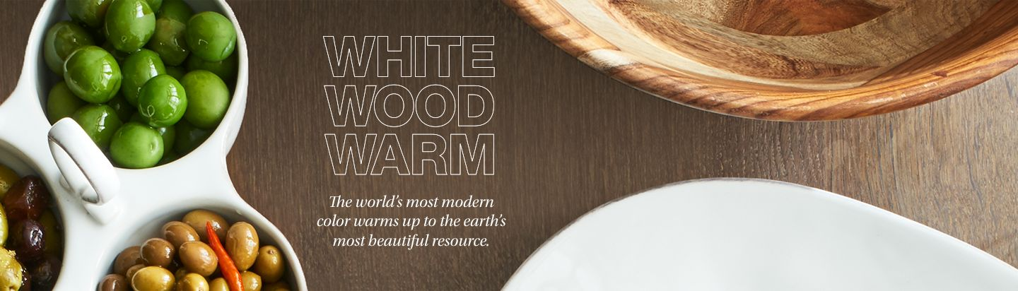 White Wood Warm. The world's most modern color warms up to the earth's most beautiful resource.