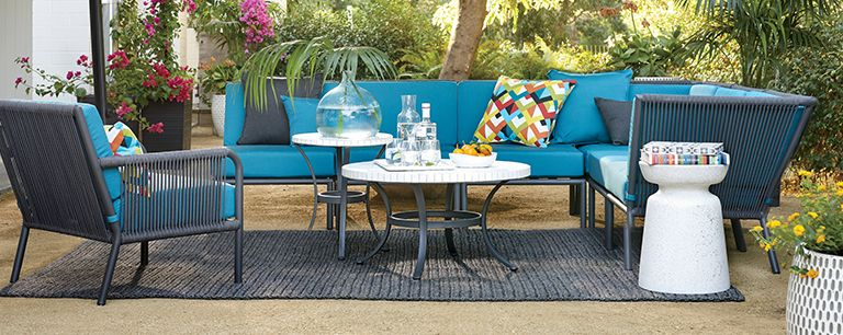 Modern Outdoor Lounge Furniture: Morocco | Crate and Barrel