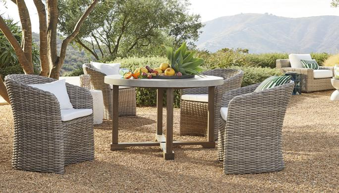 Abaco Woven Resin Wicker Furniture, Crate And Barrel Patio Furniture