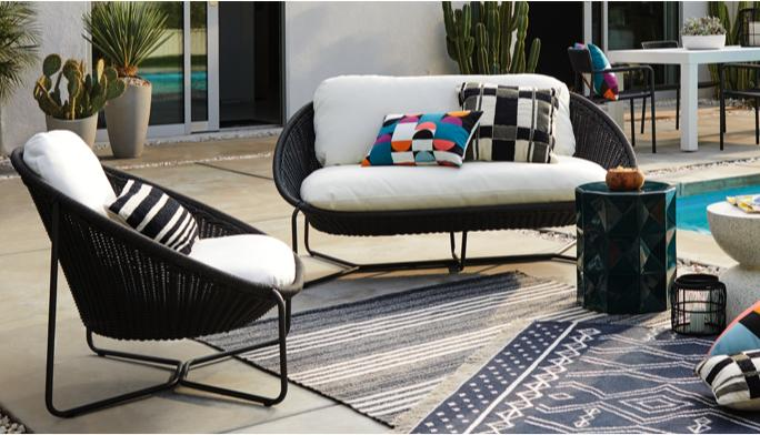 Morocco Graphite Patio Lounge Furniture